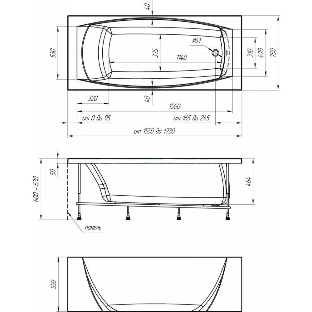 Схема ванна 1 Марка Pragmatika 173x75