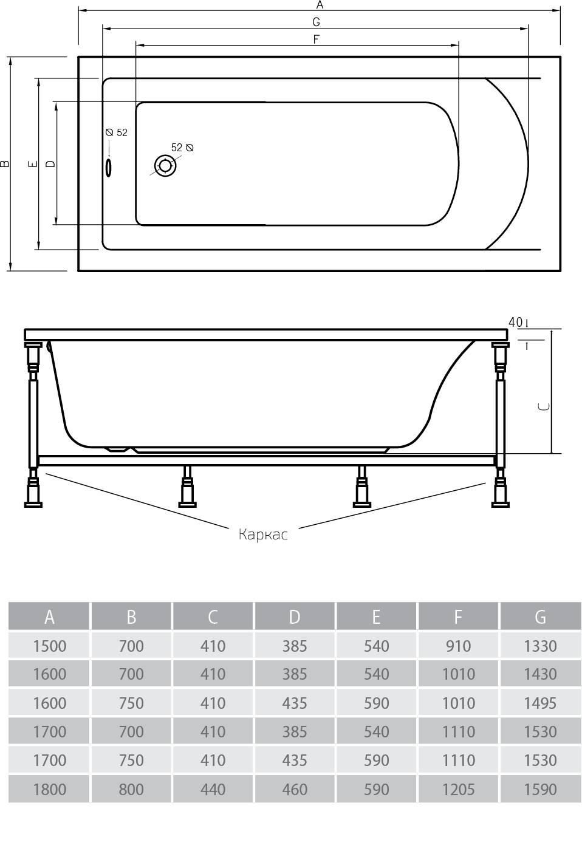Схема ванна Alpen Alaska