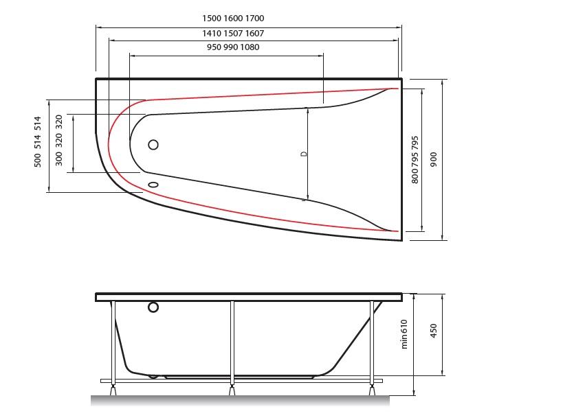 Boomerang Vayer 170x90