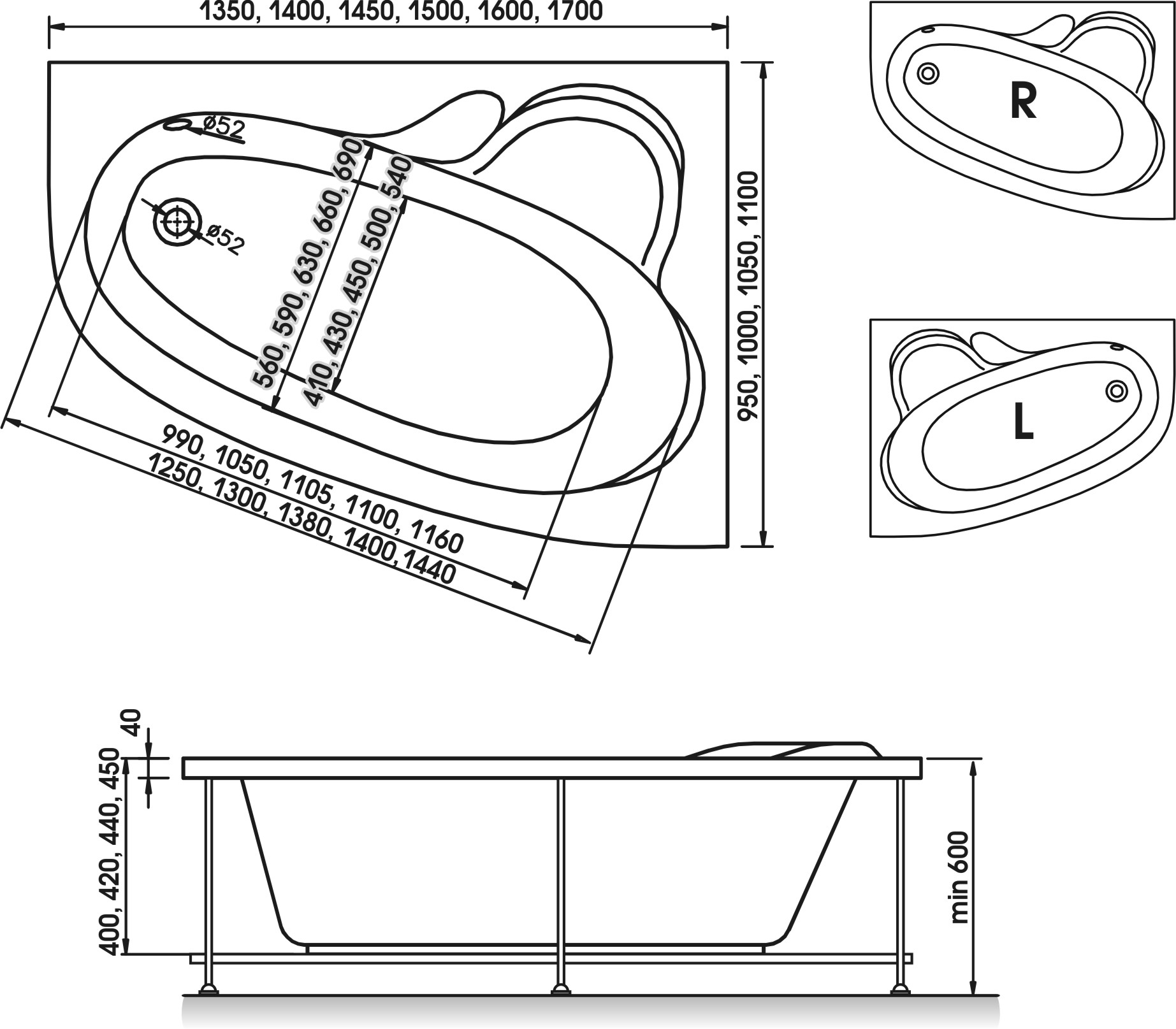 Схема ванна Relisan Ariadna