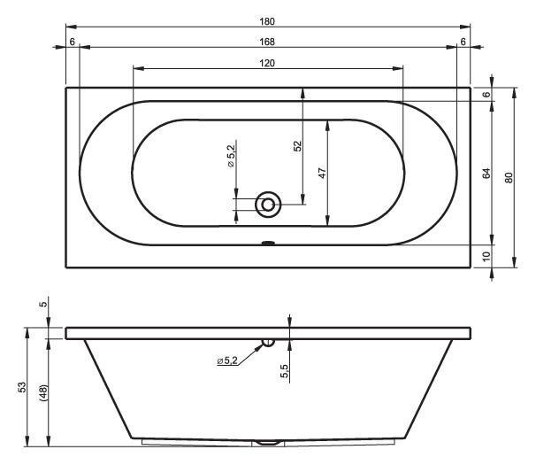 Схема ванны Roca Akira