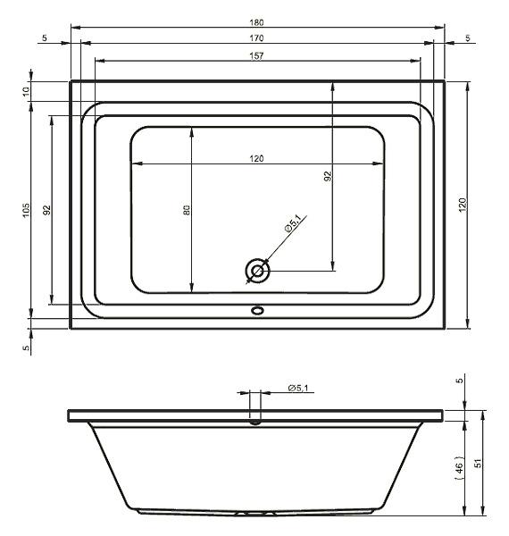Схема ванны Riho Castello