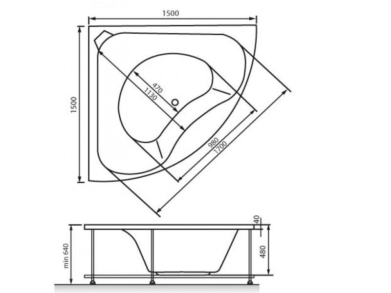 Схема ванна Vayer Gaja 150x150