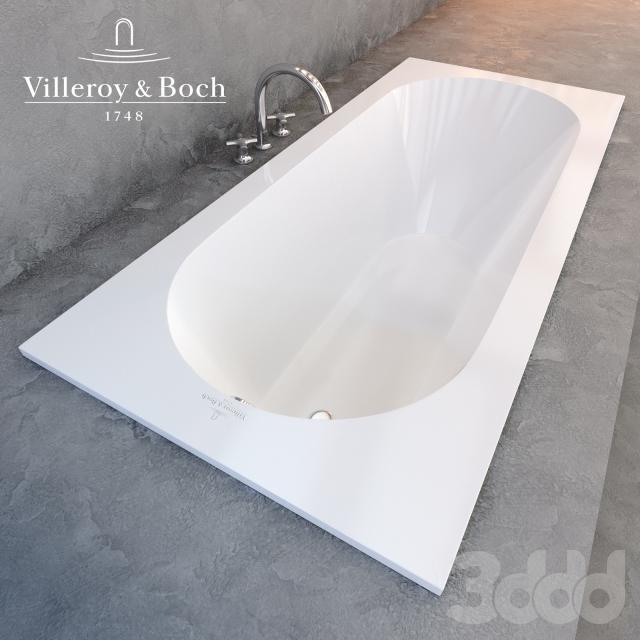 Квариловая ванна Villeroy & Boch Oberon с гидромассажем и массажем спины