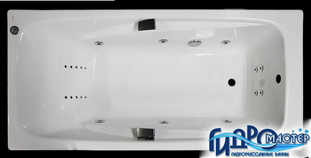 Чугунная ванна Jacob Delafon Repos в комплектации Comfort с массажем спины и ступней.